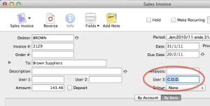 Transaction User field