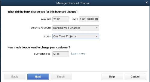 Manage Bounced Cheque