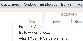 QuickBooks - Adjust Quantity and Value