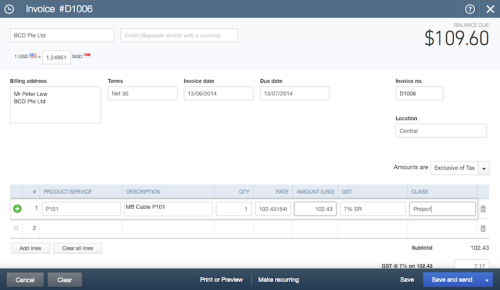 how to delete an invoice in qbo