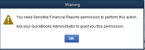 QuickBooks - Warning