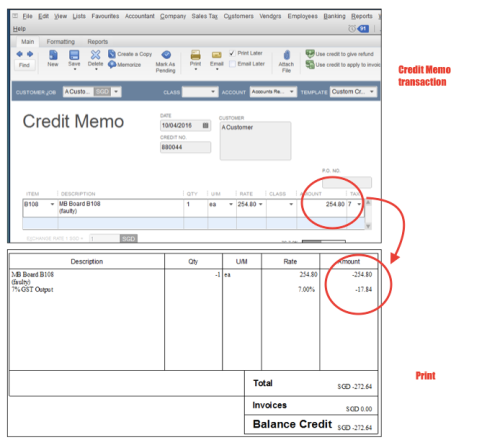 QuickBooks Malaysia Solarsys – Credit Note Form